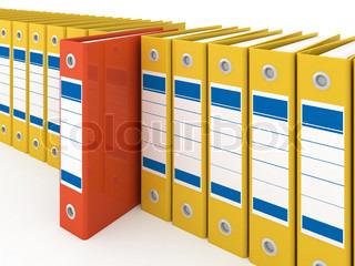 Organized office folders