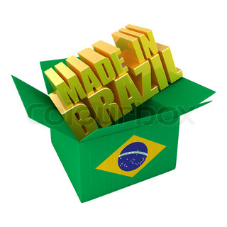 Made in Brazil. 3d concept illustration isolated on white