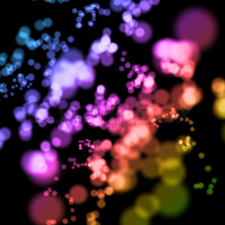 abstract colorful blurry lights background in perspective