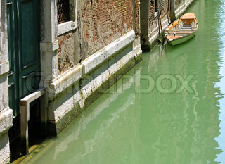 Typical water street, Venice, Italy