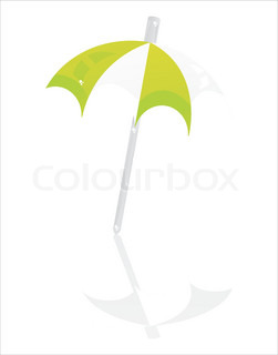 glossy beach umbrella