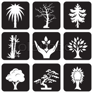 trees and plants icons