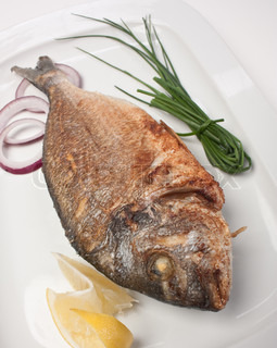 dish of fried fish with onions