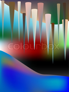 Cave abstract vector