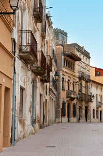 Siesta In der typisch mittelalterlichen spanischen Stadt