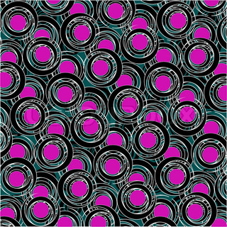 purple and black circle pattern, abstract vector art illustration