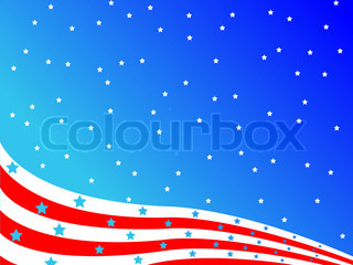 stylized american flag, abstract vector art illustration