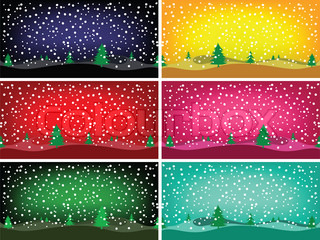 winter banners, abstract art illustration