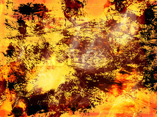 Abstract background with brown and yellow stains