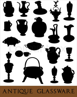 Vector of 'pottery, vector, silhouette'