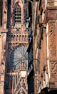 fragment of cathedral in Strasbourg, France