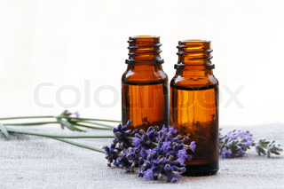 Aromatherapy Aroma Oil in Glass Bottles with Lavender