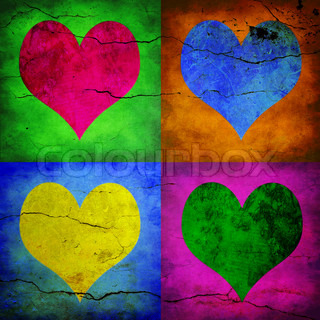 Image of 'four, heart, background'