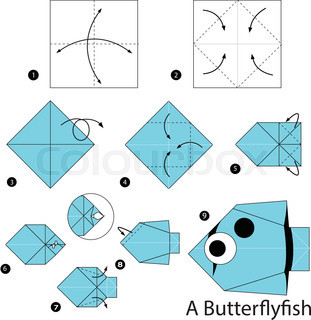 Step By Instructions How To Make Origami A Butterfly Fish