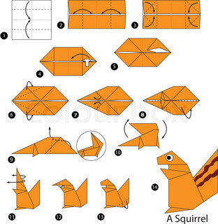 Step By Instructions How To Make Origami A Squirrel