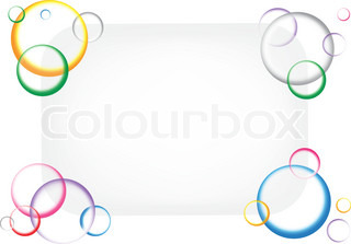 The beautiful eps10 color circles background with text shape