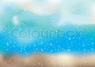 Background with rain drops on the window