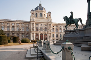 view on Kunsthistorisches Museum,Vienna,Austria from Maria Theresia Monument