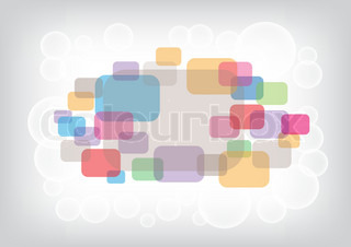The rounded rectangular and circles eps10 color background