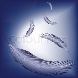 feathers in the wind, abstract art illustration