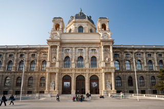 view on Naturhistorisches Museum (Natural History Museum),Vienna,Austria from Maria-Theresien-Platz