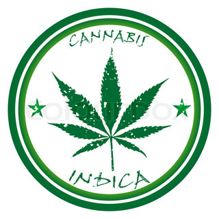 cannabis stamp against white background, abstract art illustration