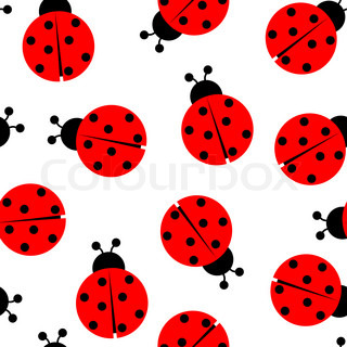 ladybugs seamless pattern, abstract art illustration