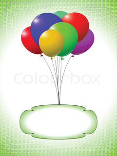 balloons and bubble design, abstract art illustration