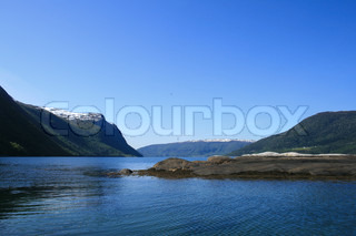 A series, fjords and mountains of Norway
