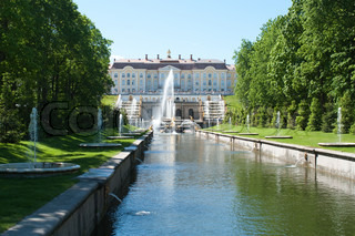 Grand Peterhof Palace and the Grand Cascade,St.Petersburg, Russia
