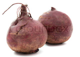 beet on white background