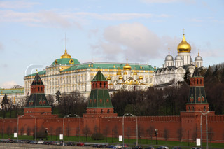 Moscow, Kremlin with palace and cathedrals inside