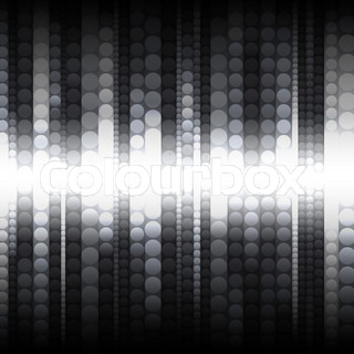 strips of shiny black and white circles, abstract background