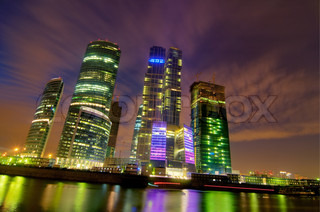 High Dynamic Range photo of skyscrapers in Moscow