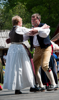 Folkdancing in the midsummer