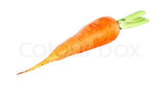 reif frisch Zuckerbrot auf weißem Hintergrund, Gemüse-Foto