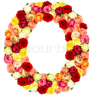 Z Alphabet In Rose Roses flower alphabet, O on black | Stock Photo | Colourbox