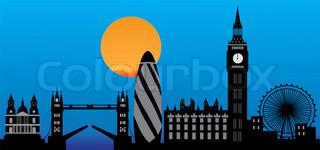 skyline london in detail