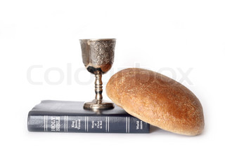 Wine and bread for holy communion