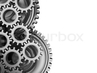abstract 3d illustration of gear wheels background