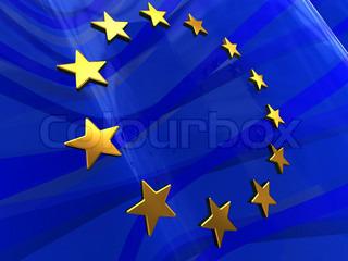 abstrakte 3d Illustration der europäischen Flagge Hintergrund