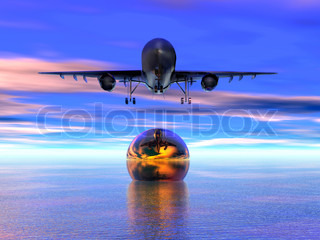 3D generation on a theme air travel