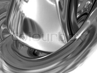 abstract 3d illustration of silver metal background