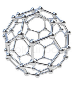 abstract 3d illustration of chrome steel molecular structure