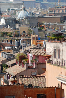 Roofs of Rome - perspective view