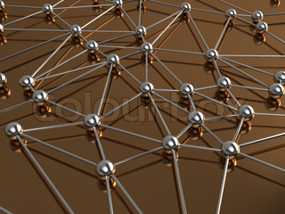 3d illustration of network or molecular structure