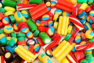 Baggrund lavet af farverige slik