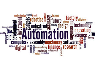 Automation, word cloud concept 8