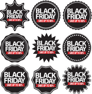 Black Friday Special Offer Black Signs Stock Vector Colourbox