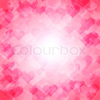 romantisk abstrakt sløret baggrund med hjerter